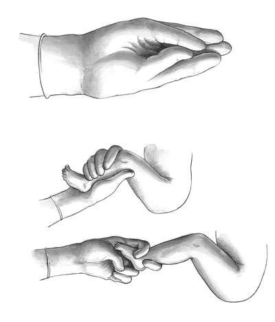 Рука ножка