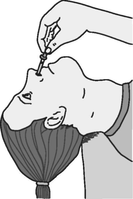 закапывании капель в нос