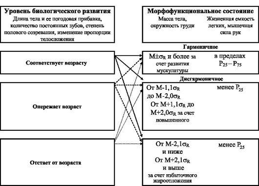Схема оценки физического