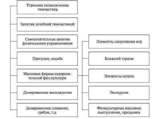 Схема 2.3. Формы ЛФК