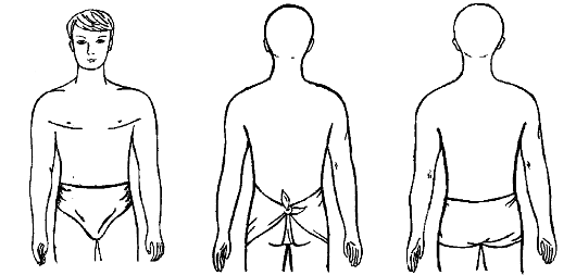 Косыночная повязка на область