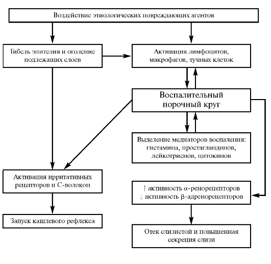 Схема патогенеза острого