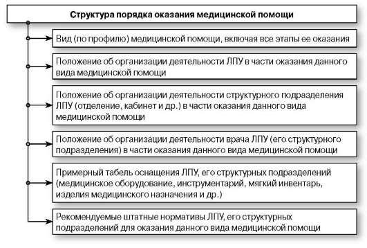 Структура порядка оказания